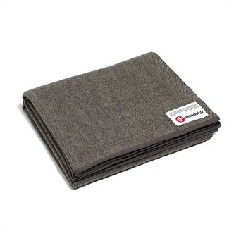 Manduka Wolle Yoga Blanket - Sediment