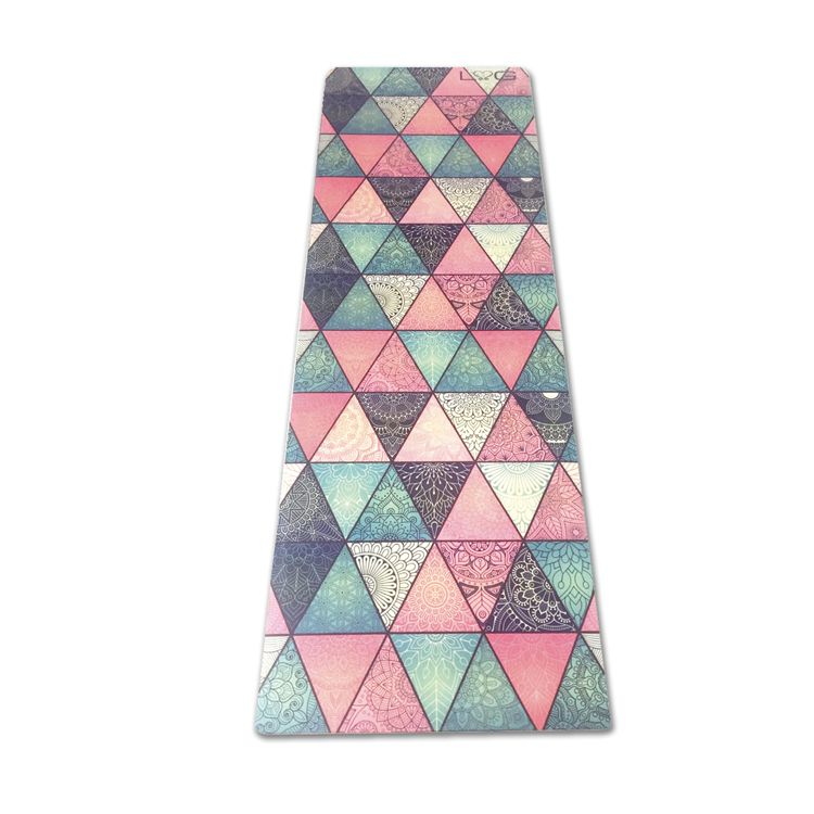 Love Generation Full Color Triangles Yoga Mat - Natuurlijk Rubber