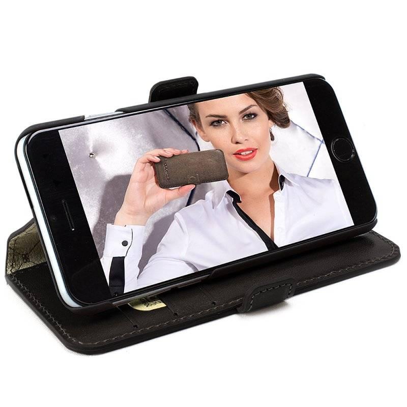 Bouletta Bouletta - iPhone 6(S) WalletCase (Rustic Black)