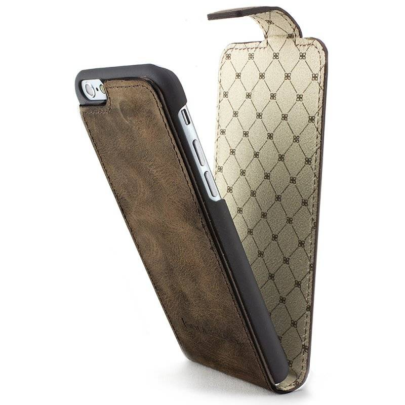 Bouletta Bouletta - iPhone 6(S) Plus FlipCase (Antic Brown)