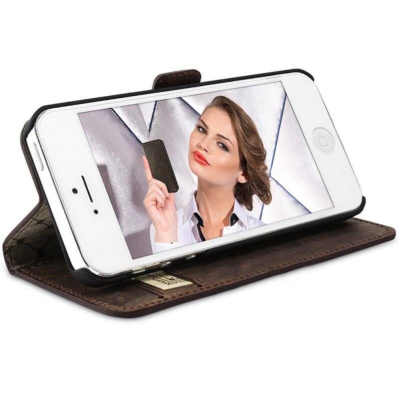 Bouletta Bouletta - iPhone 5(S) & SE WalletCase (Antic Brown)