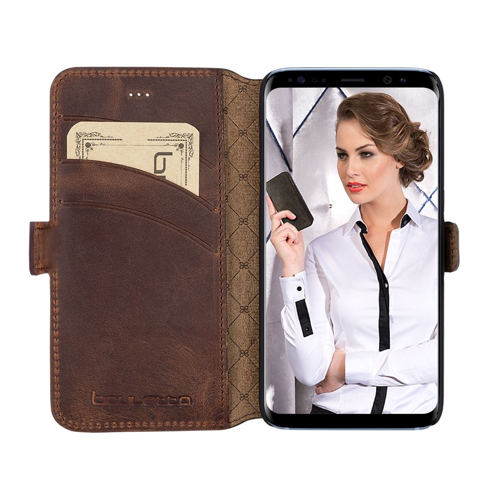 Bouletta Bouletta - Samsung Galaxy S8 Plus WalletCase (Antic Coffee)