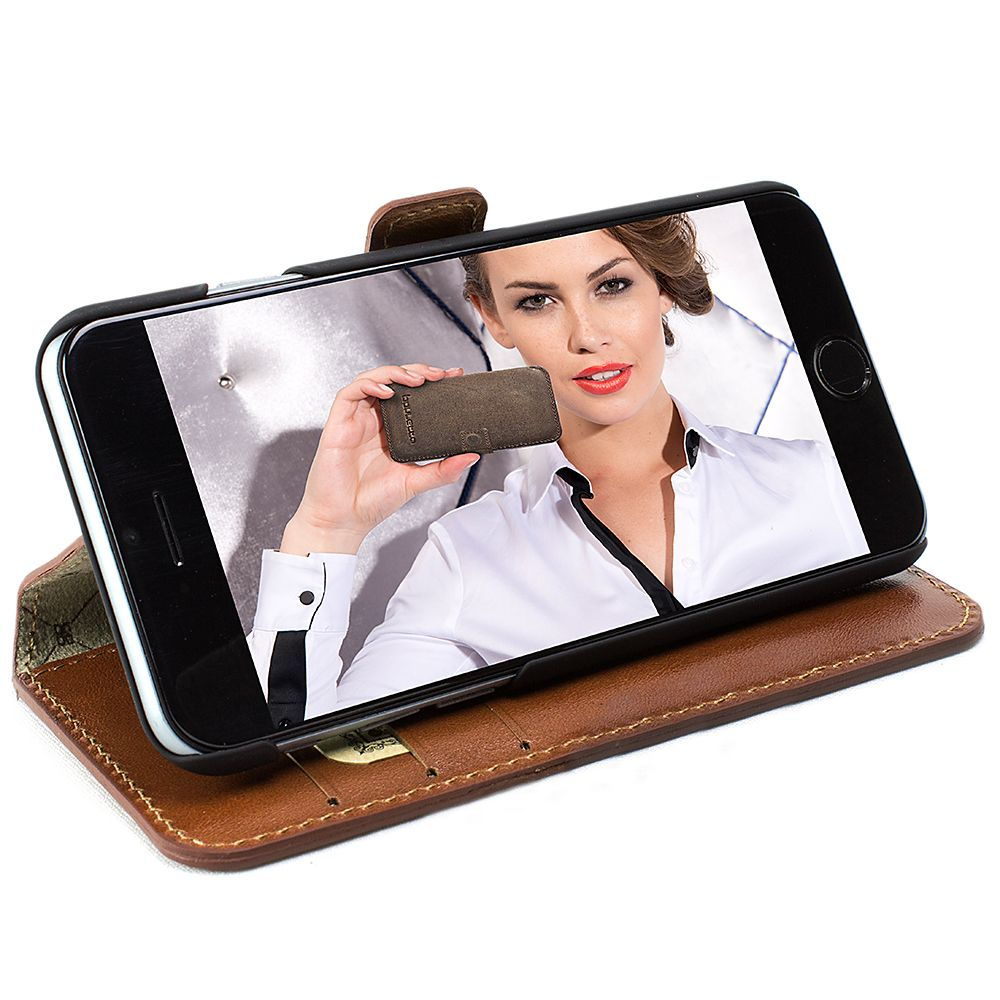 Bouletta Bouletta - Apple iPhone 7 Plus WalletCase (Rustic Cognac)