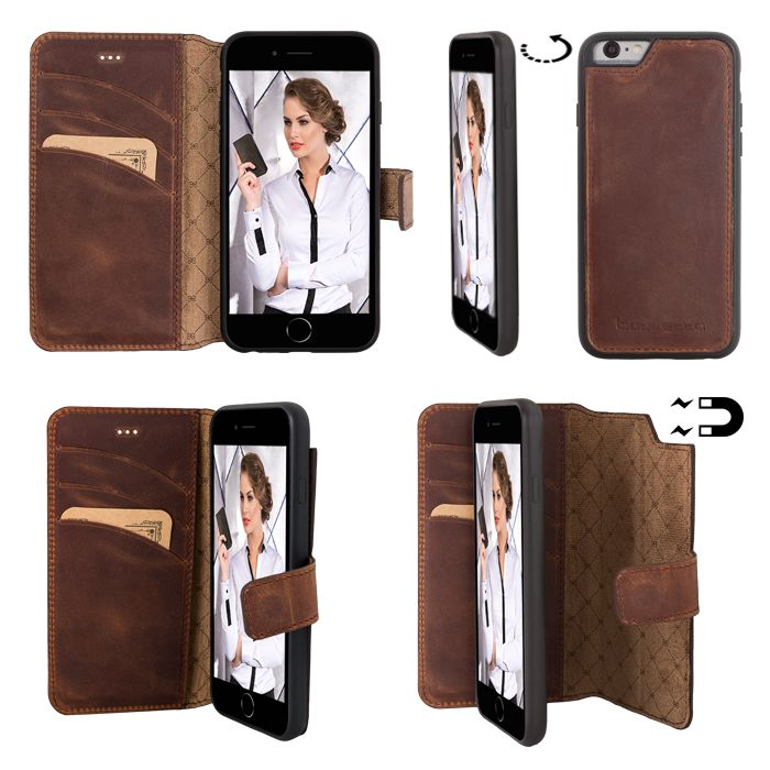Bouletta Bouletta - iPhone 6(S) Magnet BookCase (Antic Coffee)