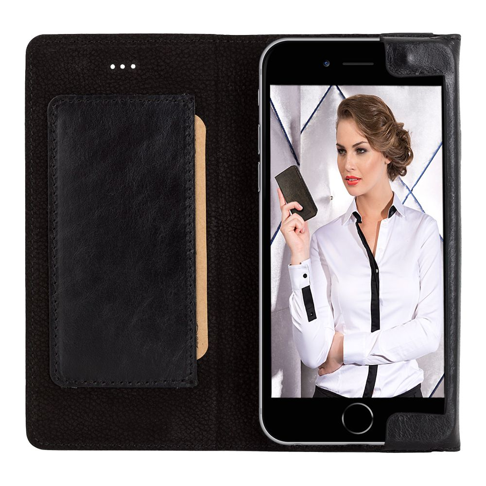 Bouletta Bouletta - iPhone 6(S) HalfWay BookCase (Rustic Black)