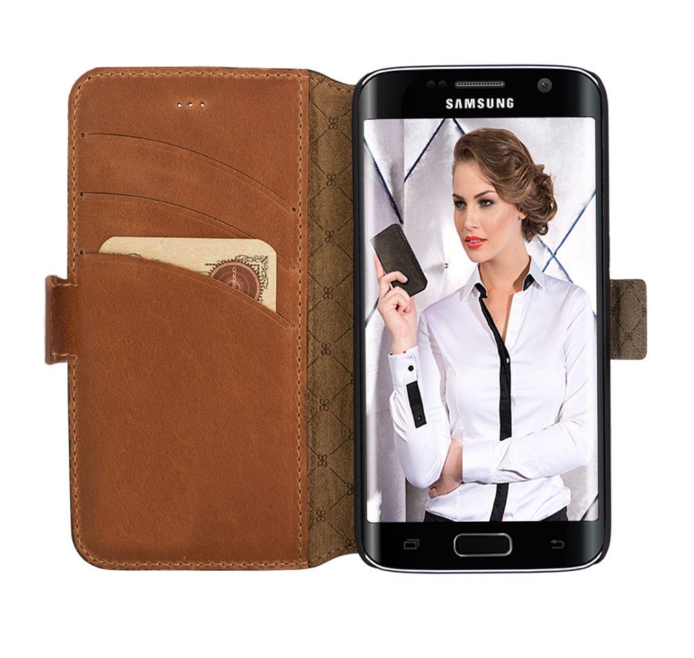 Bouletta Bouletta - Samsung Galaxy S6 Edge WalletCase (Rustic Cognac)