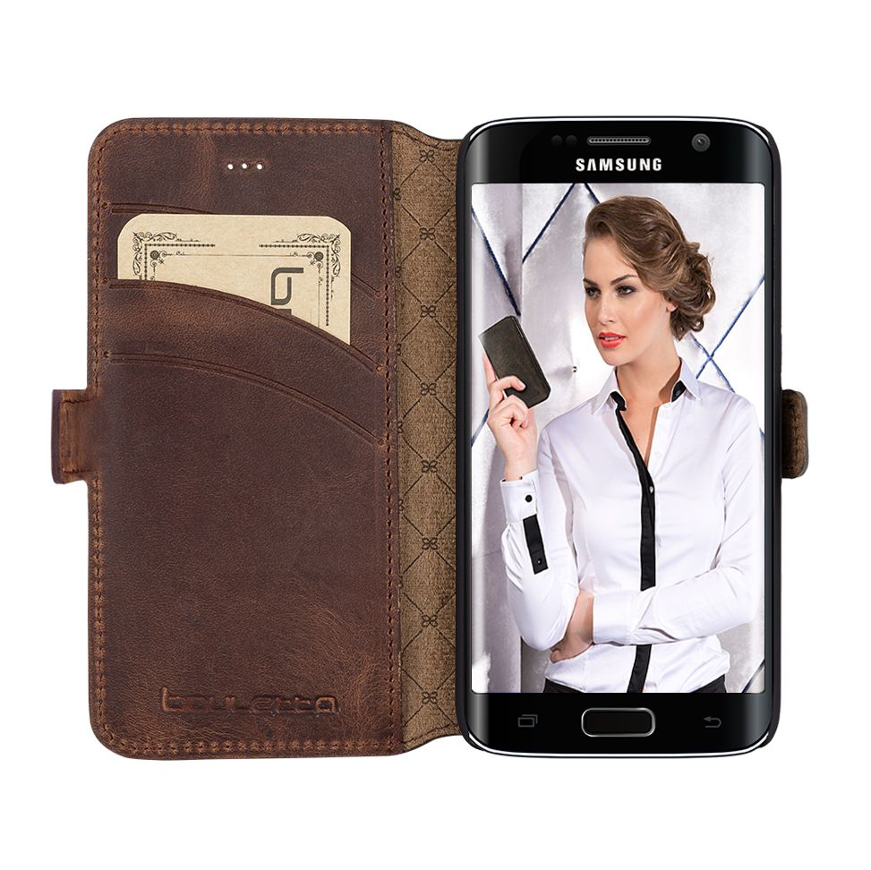 Bouletta Bouletta - Samsung Galaxy S6 Edge WalletCase (Antic Coffee)