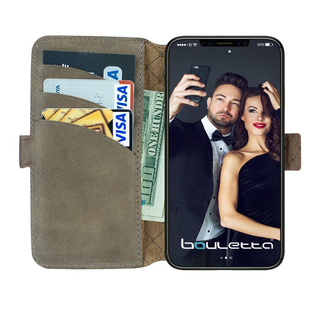 Bouletta Bouletta - iPhone Xs - X BookCase (Antic Grey)