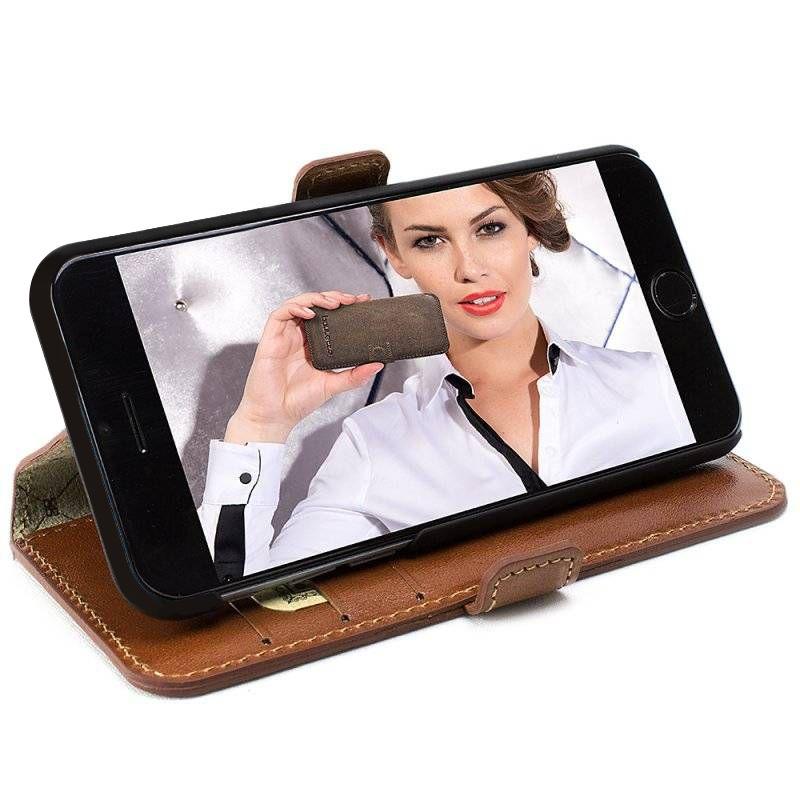 Bouletta Bouletta - Apple iPhone 7 BookCase N.E. (Rustic Cognac)