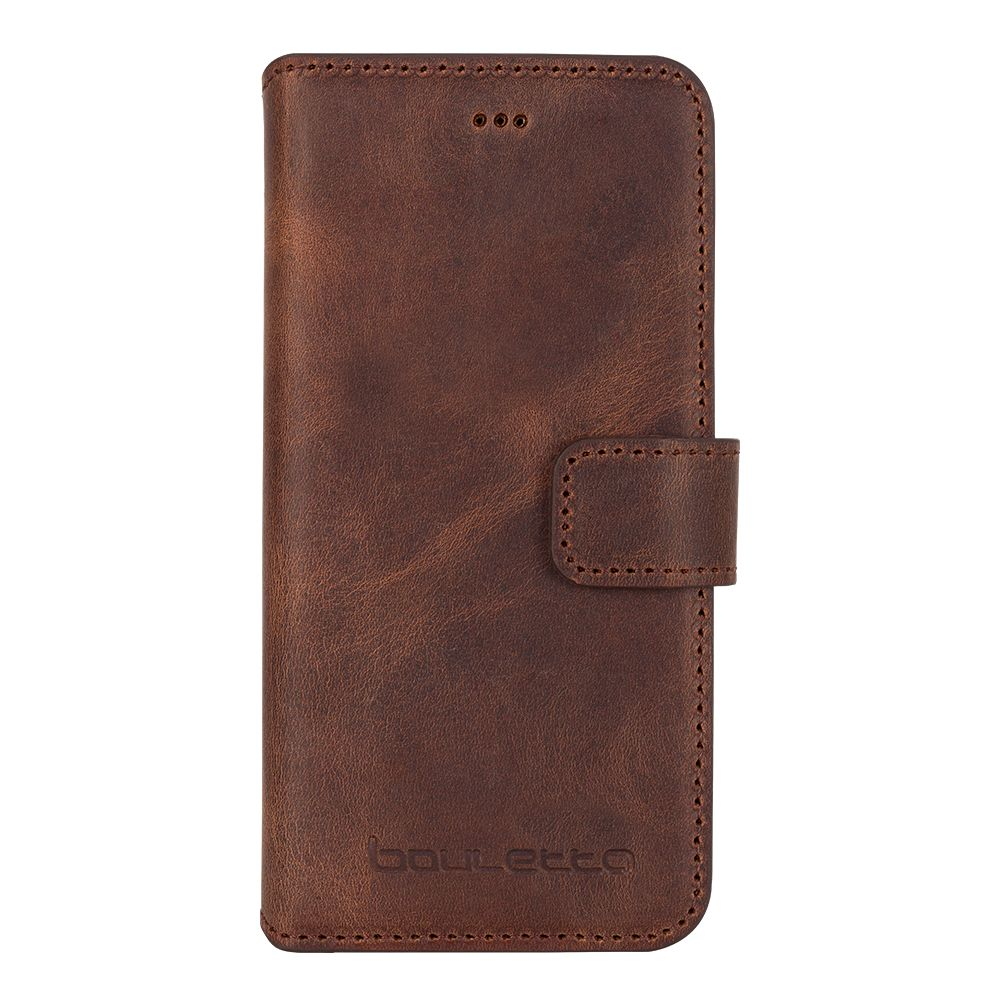 Bouletta iPhone Xs / X BookCase - Antic Coffee (Classic)