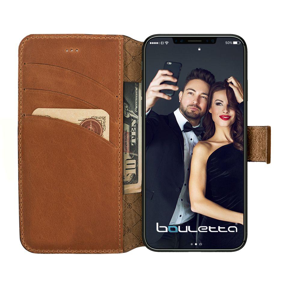 Bouletta iPhone X WalletCase - Burned Cognac (Classic)
