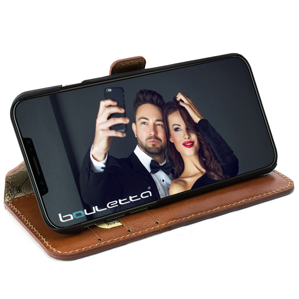 Bouletta iPhone Xs / X BookCase - Burned Cognac (Classic)