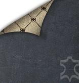 Bouletta Bouletta - iPhone X Insteekhoesje met vakjes (Antic Blue)