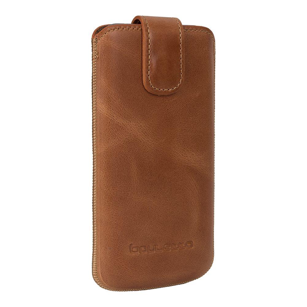 Bouletta Bouletta - iPhone Xs / X Insteekhoesje met vakjes (Rustic Cognac)