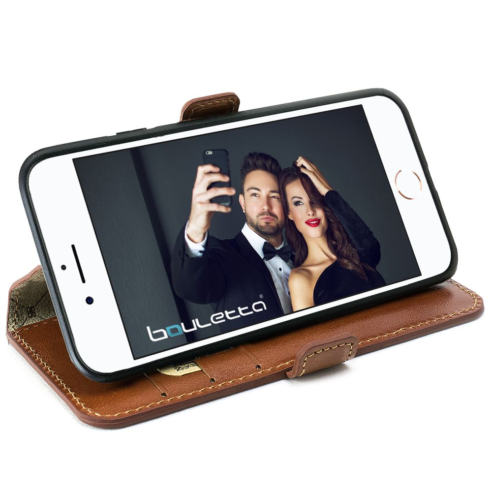 Bouletta Bouletta - iPhone 8 Book Case (Rustic Cognac)