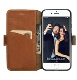 Bouletta Bouletta - iPhone 8 Plus Book Case (Rustic Cognac)