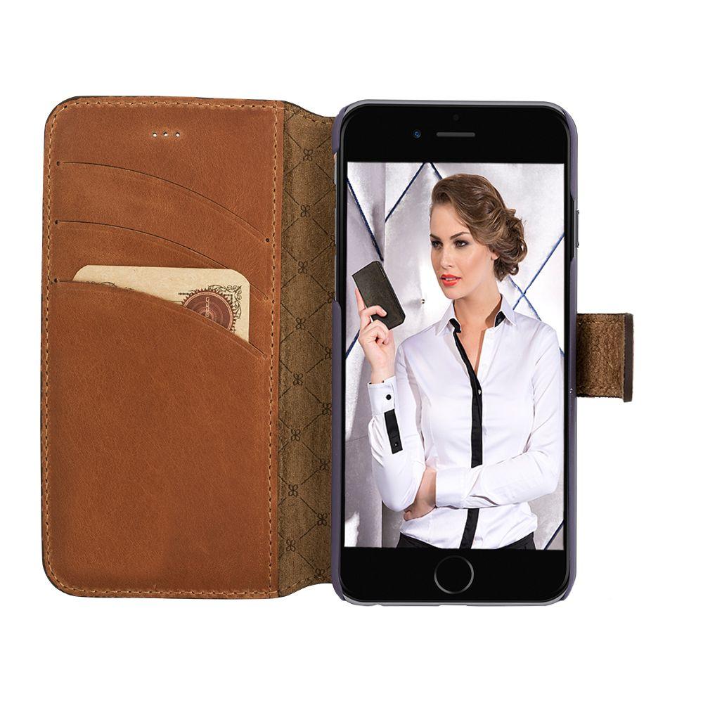 Bouletta Bouletta - Apple iPhone 8 WalletCase (Burned Cognac)