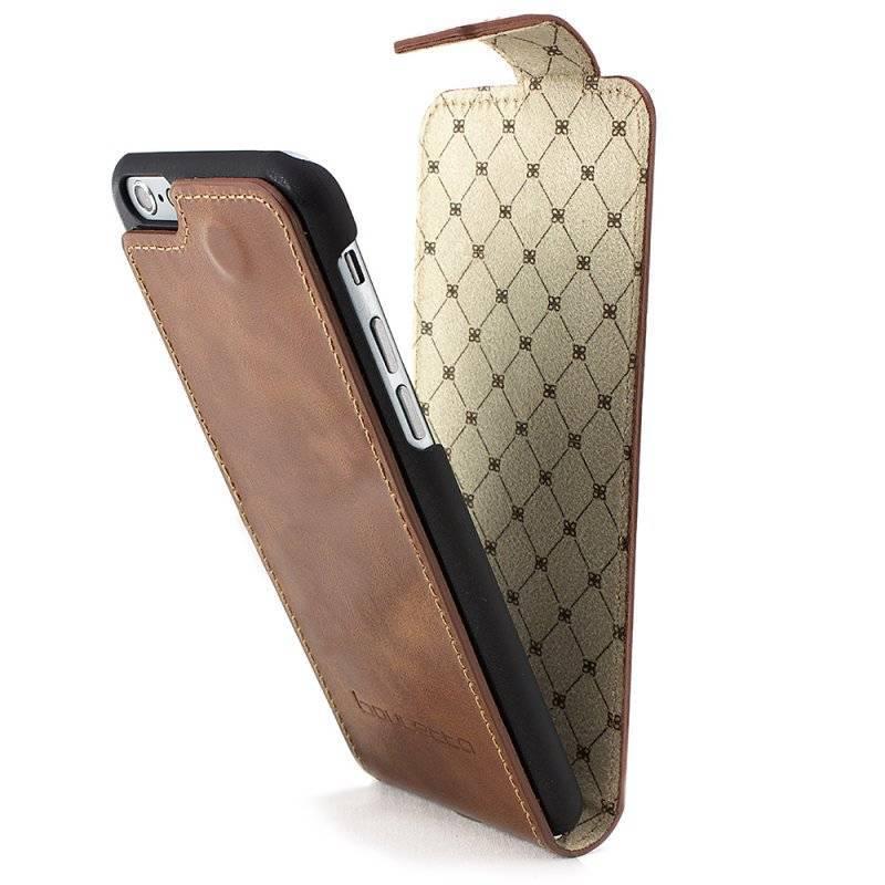 Bouletta Bouletta - iPhone 8 Flip Case (Rustic Cognac)