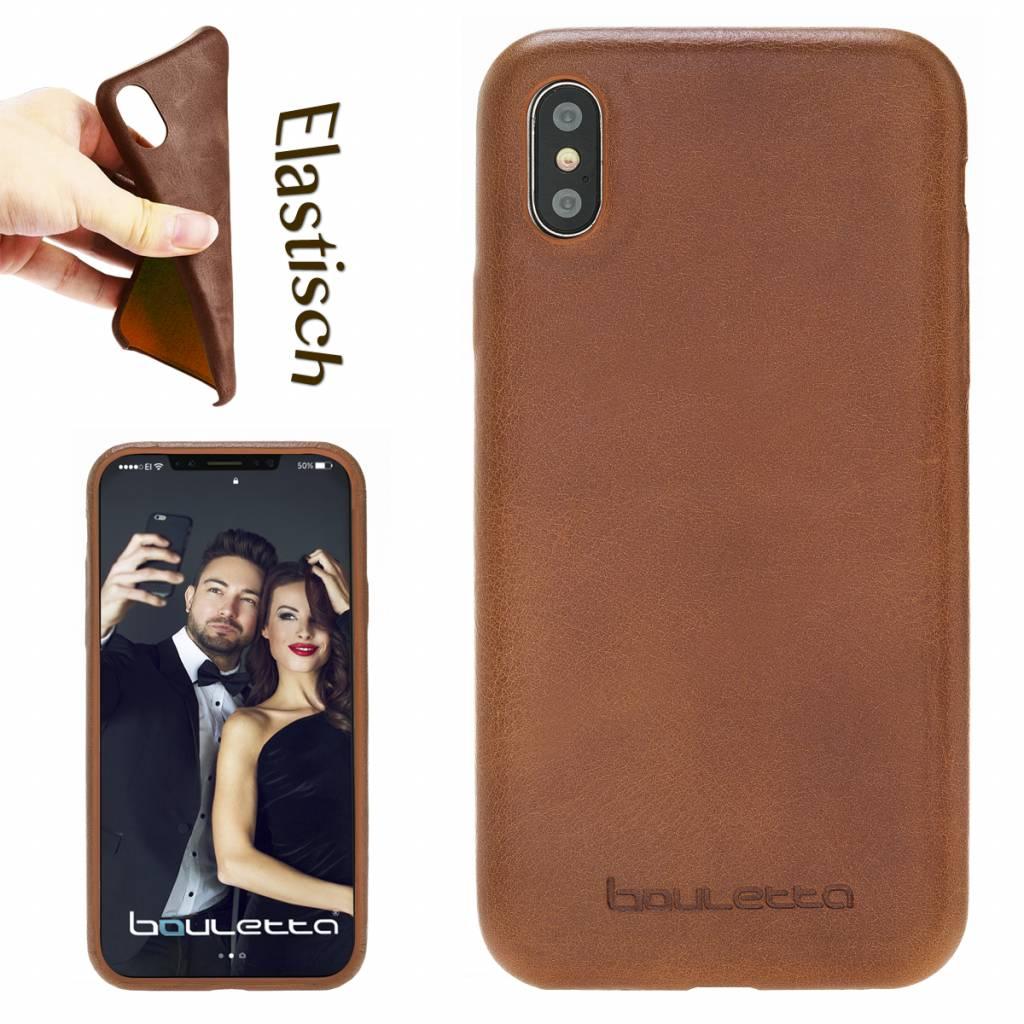 Bouletta Bouletta - iPhone X Elastic BackCover (Rustic Cognac)
