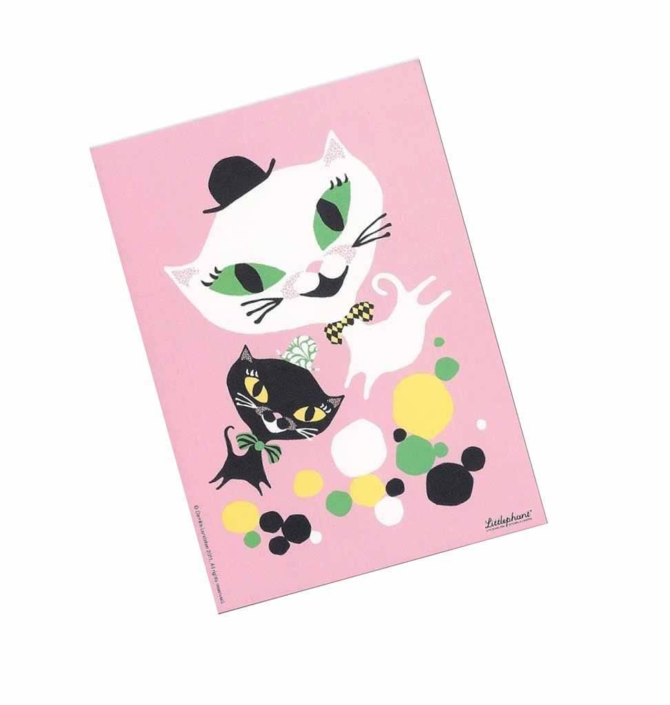 Littlephant Postkarte 'Catfun'