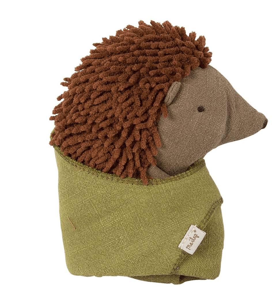Maileg Hedgehog with leaf Maileg 18 cm