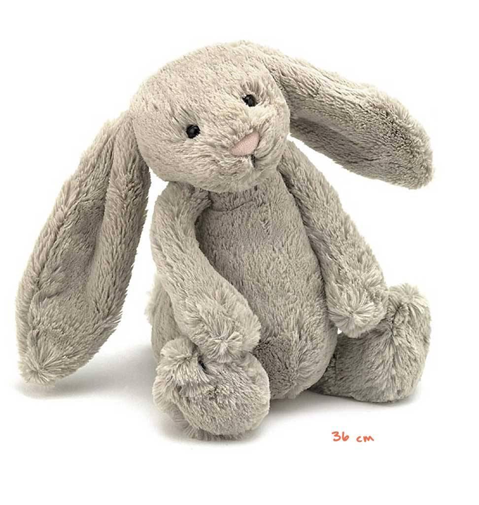 Jellycat knuffels Bashful large bunny beige Jellycat 35 cm