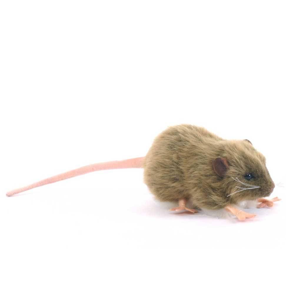 Hansa knuffels Brown rat soft toy Hansa 12 cm