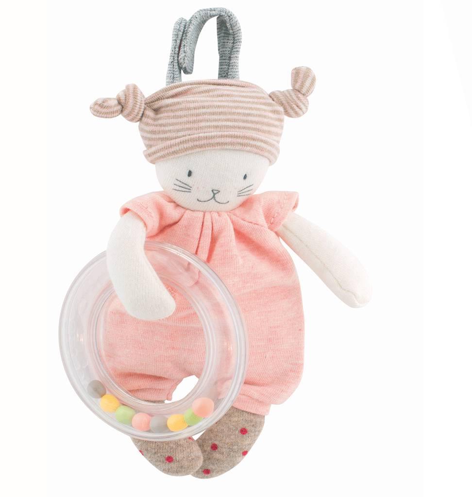 Moulin Roty Ring rattle cat Moulin Roty 17,5 cm