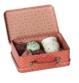 Maileg koffertje met 4 taartjes en 2 kopjes Maileg