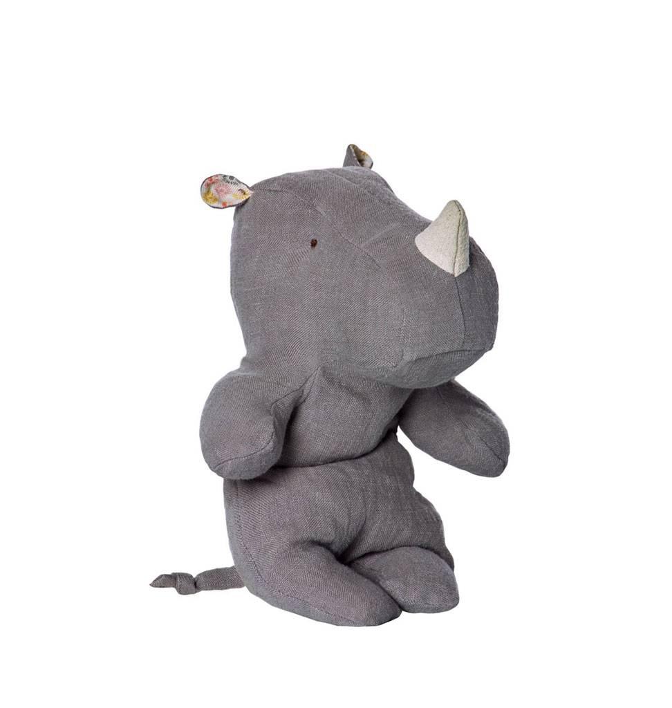 Maileg Neushoorn knuffel grijs Maileg small 22 cm