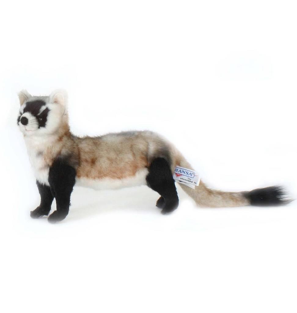 Hansa knuffels Ferret soft toyfrom Hansa 28 cm