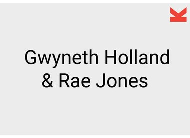 Gwyneth Holland and Rae Jones