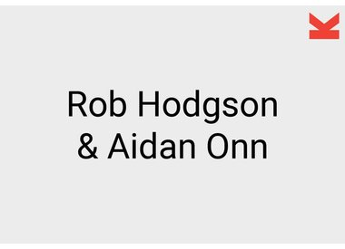 Rob Hodgson and Aidan Onn