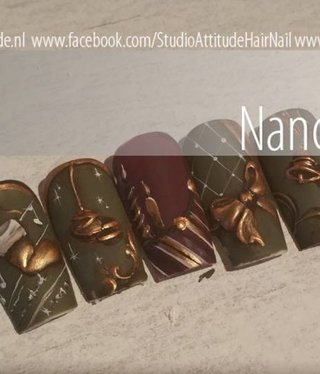 Attitude for your Nail Career & Education  christmas Acrylic Design