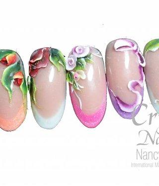 Crystal Nails Salon mini 3D acrylic design