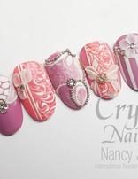 Bridal Pink Mix Nailart workshop