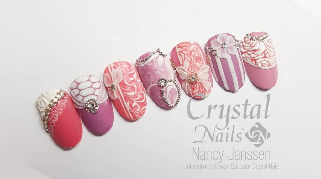 Bridal Pink Mix Nailart Workshop Webshopnagelproducten