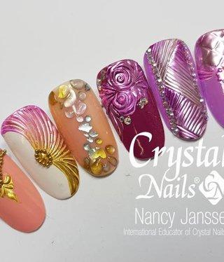 Crystal Nails Chrome Design Nailart workshop