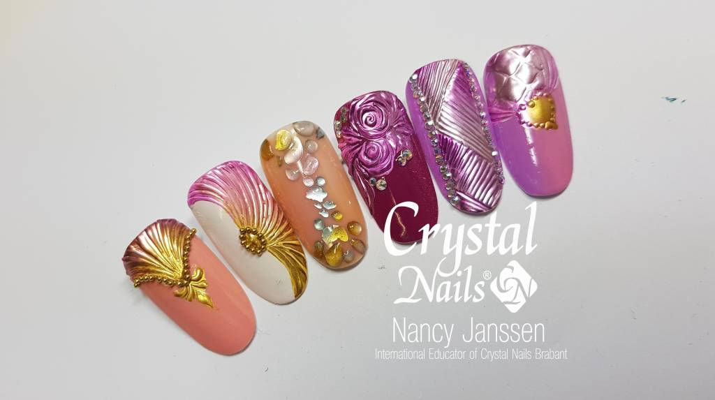 Chrome Design Nailart Workshop Nailart Workshop Met Gellak