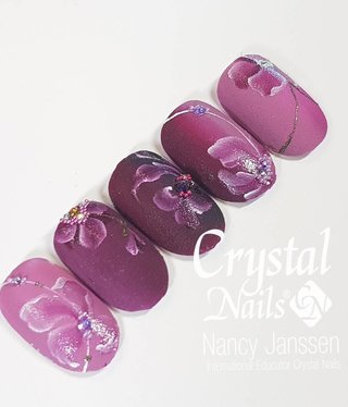 Crystal Nails Academy Velvet  shadow  art