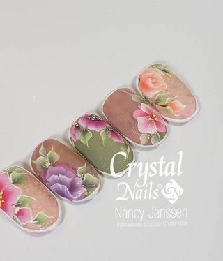 Crystal Nails Academy One stroke gel painting