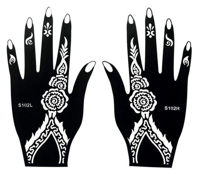 29 Elegant Henna Muster Schablone Hand | makedes.com