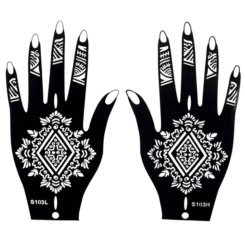 Henna Tattoo Schablonen : henna vorlagen einfach hand ~ Frokenaadalensverden.com Haus und Dekorationen