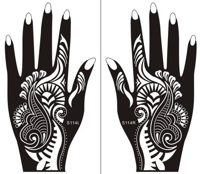 Henna Tattoo Hand Schablone Zum Ausdrucken | makedes.com