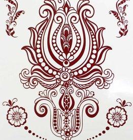 Braune Henna Tattoo w-338