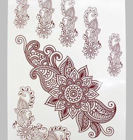 Braune Henna Tattoo w-336