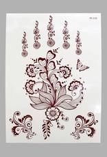 Braune Henna Tattoo w-335