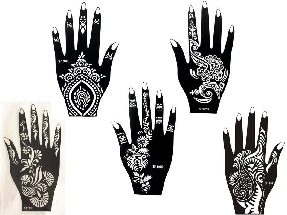 100 henna tattoo hand schablone zum ausdrucken. Black Bedroom Furniture Sets. Home Design Ideas