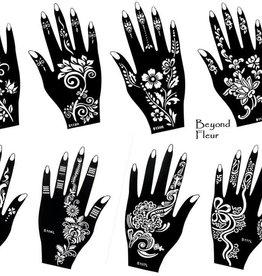 Henna Tattoo Schablone Vorlage 8 Sheet Fleur 8 - Henna Bemalung