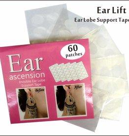 Ohrläppchen Stützband Sticker Patches - Invisible Ear Lift - Perfekt für überdehnte Ohrlöcher und verletzte Ohrläppchen 60 Stück